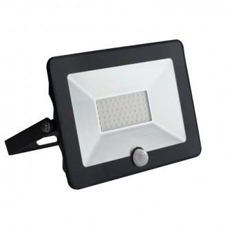 KANLUX 30326 | Grun Kanlux svetlomet svietidlo obdĺžnik pohybový senzor otočné prvky 1x LED 2100lm 4000K IP65 čierna