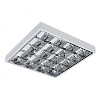 KANLUX 31057 | RSTR-LED Kanlux stropné armatúra štvorec určené pre T8 LED zdroje 4x G13 / T8 LED UV biela