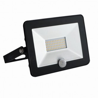 KANLUX 31067 | Grun Kanlux svetlomet svietidlo obdĺžnik pohybový senzor otočné prvky 1x LED 1400lm 4000K IP65 čierna