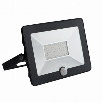 KANLUX 31068 | Grun Kanlux svetlomet svietidlo obdĺžnik pohybový senzor otočné prvky 1x LED 2100lm 4000K IP65 čierna