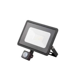 KANLUX 31155 | Grun Kanlux svetlomet svietidlo obdĺžnik pohybový senzor otočné prvky 1x LED 1500lm 4000K IP44 čierna