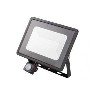 KANLUX 31156 | Grun Kanlux svetlomet svietidlo obdĺžnik pohybový senzor otočné prvky 1x LED 2300lm 4000K IP44 čierna
