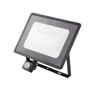 KANLUX 31157 | Grun Kanlux svetlomet svietidlo obdĺžnik pohybový senzor otočné prvky 1x LED 3800lm 4000K IP44 čierna