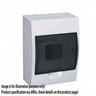 KANLUX 3831 | Kanlux rozvádzač na stenu DIN35, 6P obdĺžnik IP40 IK06 biela, hnedá