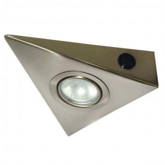 KANLUX 4386 | Zepo Kanlux osvetlenie pultu svietidlo trojuholník prepínač 1x G4 chrom, matné