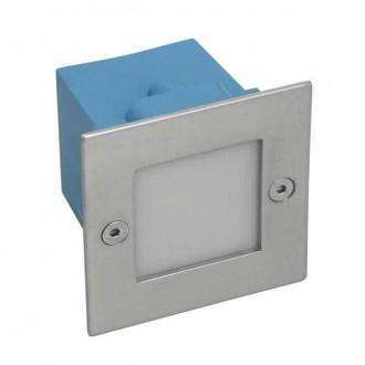 KANLUX 4392 | Taxi_LED Kanlux zabudovateľné svietidlo štvorec 70x70mm 1x LED 2700K IP54 chrom, matné