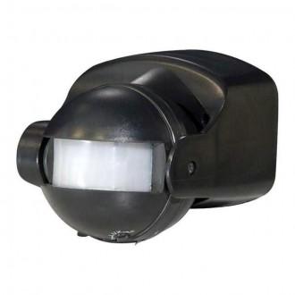 KANLUX 461 | Kanlux pohybový senzor PIR 165° otočné prvky IP44 čierna