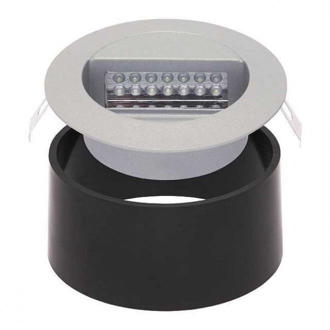 KANLUX 4680 | Dora-LED Kanlux zabudovateľné svietidlo kruhový Ø126mm 1x LED 4000K IP65 sivé