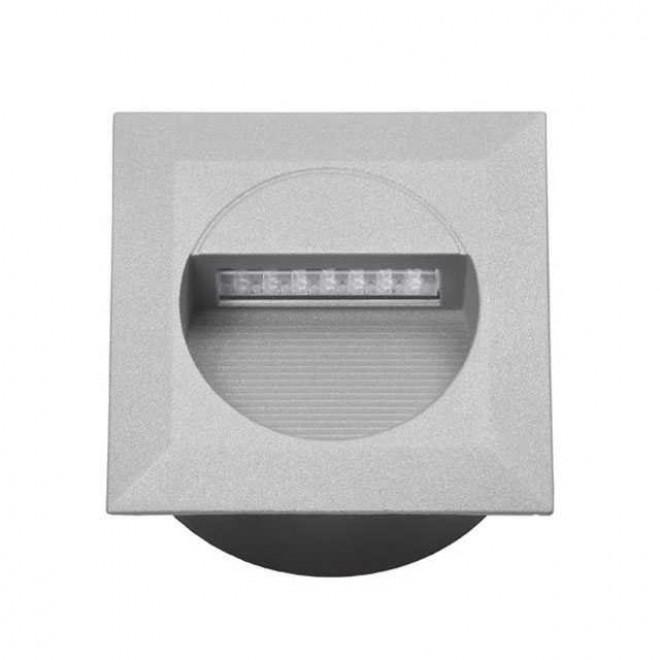 KANLUX 4681 | Linda-LED Kanlux zabudovateľné svietidlo štvorec 126x126mm 1x LED 4000K IP65 sivé