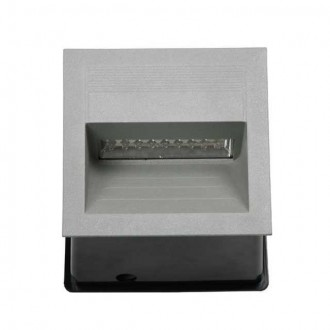 KANLUX 4684 | Lica-LED Kanlux zabudovateľné svietidlo štvorec 135x135mm 1x LED 4000K IP65 sivé