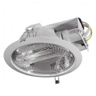 KANLUX 4820 | Ralf1 Kanlux zabudovateľné - zapustené svietidlo Ø228mm 2x E27 biela, priesvitné