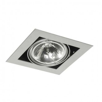 KANLUX 4960 | Mateo Kanlux zabudovateľné - zapustené svietidlo otáčateľný svetelný zdroj 195x195mm 1x G53 / AR111 sivé
