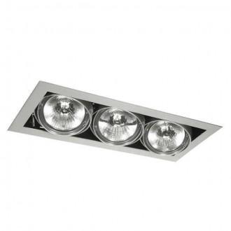 KANLUX 4962 | Mateo Kanlux zabudovateľné - zapustené svietidlo otáčateľný svetelný zdroj 195x475mm 3x G53 / AR111 sivé
