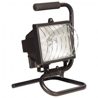 KANLUX 620 | Eliot Kanlux svetlomet prenosné svietidlo zástrčka - bez spínača otočné prvky 1x R7s IP54 čierna, priesvitné