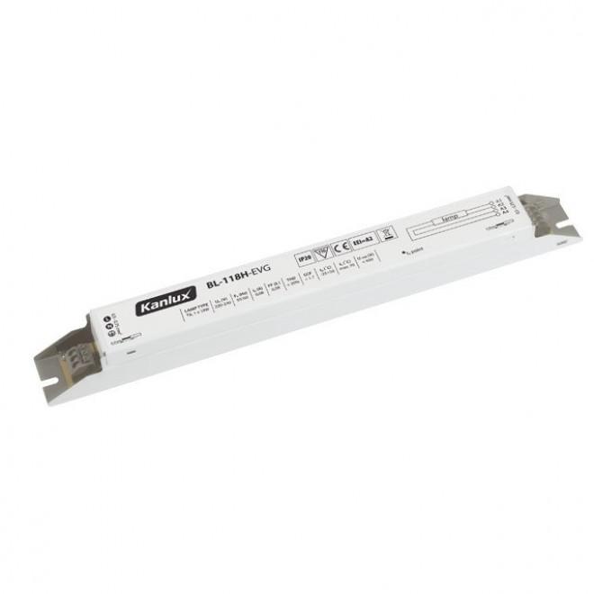 KANLUX 70480 | Kanlux elektronická stabilizačná jednotka 1x18W T8 elektronický predradník obdĺžnik biela