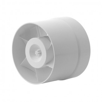KANLUX 70901 | Kanlux trubkový ventilátor Ø120 150m3/h kruhový tepelná poistka IP24 biela