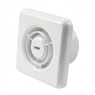 KANLUX 70905 | Kanlux trubkový ventilátor Ø100 100m3/h štvorec bez debnenia, tepelná poistka IP24 biela