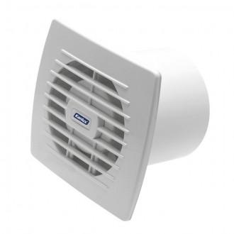 KANLUX 70910 | Kanlux trubkový ventilátor Ø100 100m3/h obdĺžnik prepínač na ťah bez debnenia, tepelná poistka IP24 UV biela