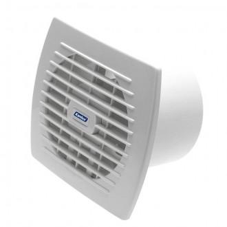 KANLUX 70916 | Kanlux trubkový ventilátor Ø120 150m3/h obdĺžnik bez debnenia, tepelná poistka IP24 UV biela