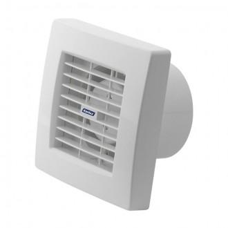 KANLUX 70925 | Kanlux trubkový ventilátor Ø100 100m3/h štvorec prepínač na ťah s automatickou žalúziou, tepelná poistka IP24 UV biela