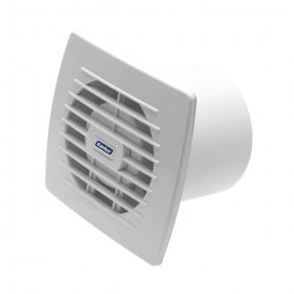KANLUX 70936 | Kanlux trubkový ventilátor Ø100 100m3/h obdĺžnik senzory vlhkosti, časový spínač bez debnenia, tepelná poistka IP24 UV biela