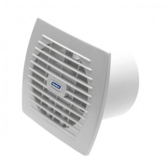 KANLUX 70941 | Kanlux trubkový ventilátor Ø120 150m3/h obdĺžnik senzory vlhkosti, časový spínač bez debnenia, tepelná poistka IP24 UV biela