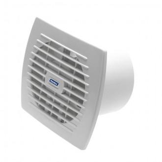 KANLUX 70942 | Kanlux trubkový ventilátor Ø120 150m3/h obdĺžnik prepínač na ťah bez debnenia, tepelná poistka IP24 UV biela