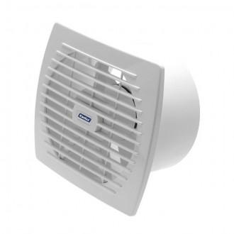 KANLUX 70946 | Kanlux trubkový ventilátor Ø150 200m3/h obdĺžnik senzory vlhkosti, časový spínač bez debnenia, tepelná poistka IP24 UV biela