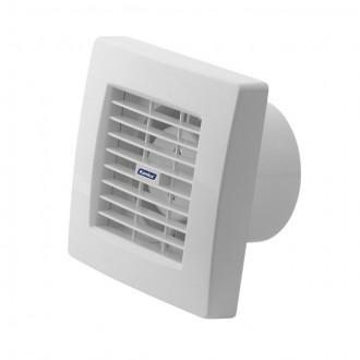 KANLUX 70953 | Kanlux trubkový ventilátor Ø100 100m3/h štvorec časový spínač s automatickou žalúziou, tepelná poistka IP24 UV biela