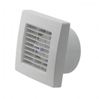 KANLUX 70958 | Kanlux trubkový ventilátor Ø120 200m3/h štvorec senzory vlhkosti, časový spínač s automatickou žalúziou, tepelná poistka IP24 UV biela