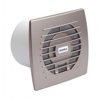 KANLUX 70973 | Kanlux trubkový ventilátor Ø100 100m3/h obdĺžnik bez debnenia, tepelná poistka IP24 UV strieborný