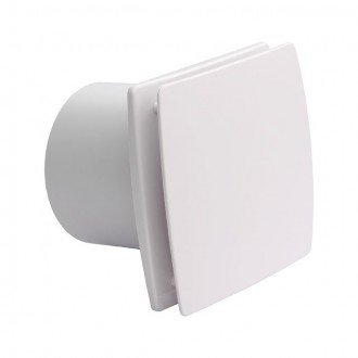KANLUX 70975 | Kanlux trubkový ventilátor Ø99 100m3/h obdĺžnik so zatvorenou čelnou doskou, tepelná poistka IP24 UV biela