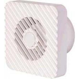 KANLUX 70995 | Kanlux trubkový ventilátor Ø100 100m3/h štvorec časový spínač bez debnenia, tepelná poistka IP24 UV biela