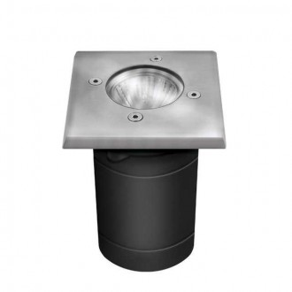 KANLUX 7171 | Berg Kanlux zabudovateľné svietidlo štvorec 1x GU10 IP67 IK08 chrom, matné