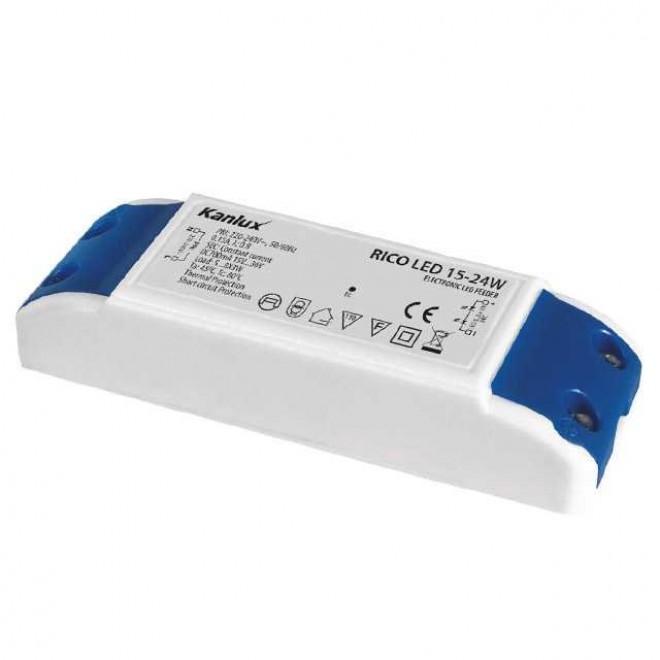 KANLUX 7301 | Kanlux LED napájací zdroj 700mA DC 5-8x 3W 15-36V obdĺžnik tepelná poistka biela, modrá