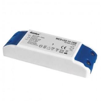 KANLUX 7302 | Kanlux LED napájací zdroj 350mA DC 10-18x 1W 30-72V obdĺžnik tepelná poistka biela, modrá