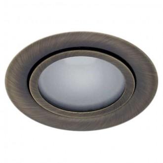 KANLUX 814 | Gavi Kanlux zabudovateľné svietidlo kruhový Ø73mm 1x G4 matná meď
