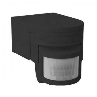 KANLUX 8391 | Kanlux pohybový senzor PIR 160° otočné prvky IP44 čierna