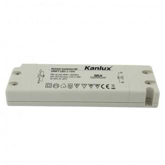KANLUX 8550 | Kanlux LED napájací zdroj 12V DC 3-18W 1,5A obdĺžnik biela