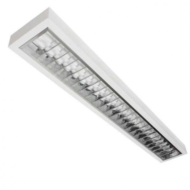 KANLUX 8601 | Xedos Kanlux stropné armatúra obdĺžnik 2x G5 / T5 biela