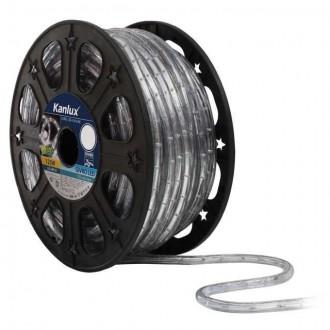 KANLUX 8630 | Givro Kanlux svetelná hadica studené biele svetlo svetelný kábel - 50 m 25x LED IP44 biela