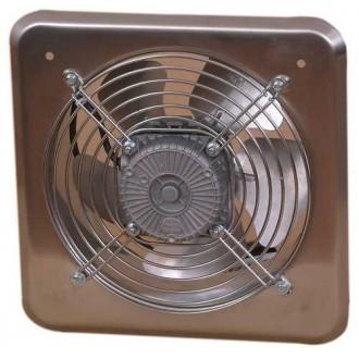 KANLUX C200 | Kanlux priemyselný ventilátor Ø210 470m3/h štvorec IP24 UV nerez