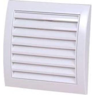 KANLUX ND12 | Kanlux ventilačná mriežka Ø120 pre potrubný ventilátor štvorec sieťka proti hmyzu UV biela