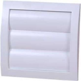 KANLUX ND15Z | Kanlux gravitačná žalúzia Ø150 pre potrubný ventilátor štvorec sieťka proti hmyzu UV biela