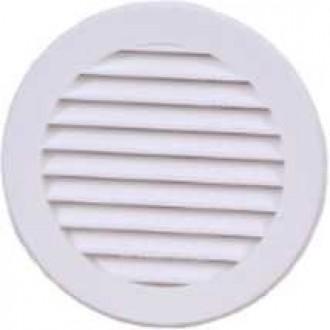 KANLUX VR100 | Kanlux ventilačná mriežka Ø100 pre potrubný ventilátor kruhový sieťka proti hmyzu UV biela