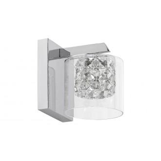 LAMPADORO 81015   Diamante_LD Lampadoro rameno stenové svietidlo 1x G9 chróm, priesvitné, krištáľ
