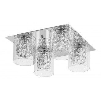 LAMPADORO 81019   Diamante_LD Lampadoro stropné svietidlo 4x G9 chróm, priesvitné, krištáľ