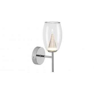 LAMPADORO 81021   Fiorella Lampadoro rameno stenové svietidlo 1x LED 400lm 3000K chróm, priesvitné