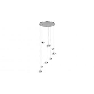 LAMPADORO 81074   Angelo Lampadoro visiace svietidlo 1x LED 3900lm 3300K chróm, kryštálový efekt