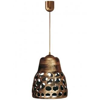 LAMPEX 002/1 ZLO | Wiszaca Lampex visiace svietidlo 1x E27 starožitná zlata